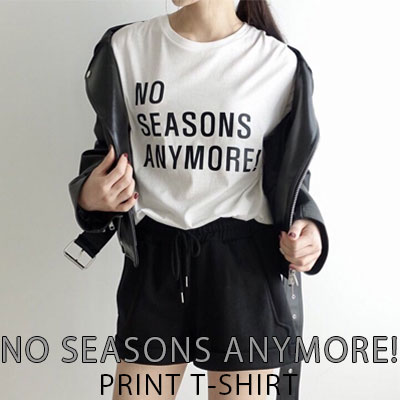 【FEMININE : BLACK LABEL】NO SEASONS ANYMORE!プリントTシャツ(FREE SIZE/2COLORS)