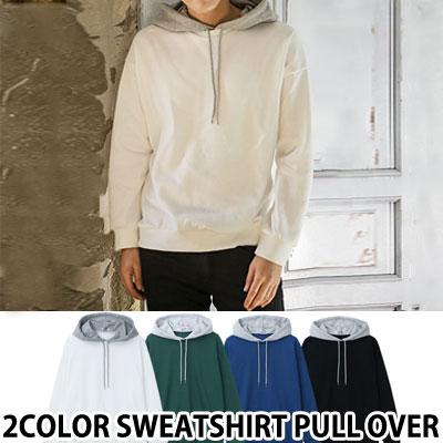 2色スウェットシャツプルオーバー