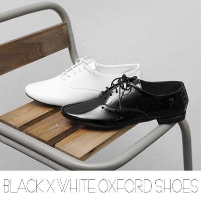 [RANG CHE]BLACK X WHITEオックスフォードシューズ