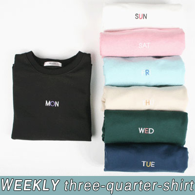[BASIC SIMPLE LINE]ウィークリー7分袖シャツ