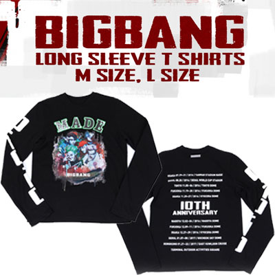 【公式グッズ】BIGBANG LONG SLEEVE T-SHIRTS