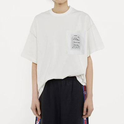 パッチポケットショートスリーブTシャツ/半袖