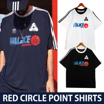 レッドサークルポイントショートスリーブシャツ/半袖