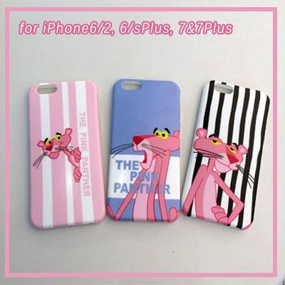 iPhone ピンク・パンサー プリンティング3種ゼリーハードケース/スマホカバー/スマホケース