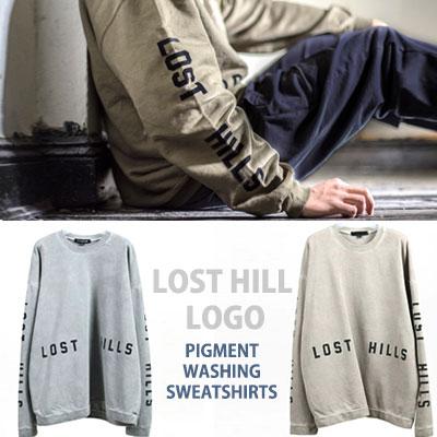 ロストヒルズのロゴピグメントウォッシュスウェットシャツ