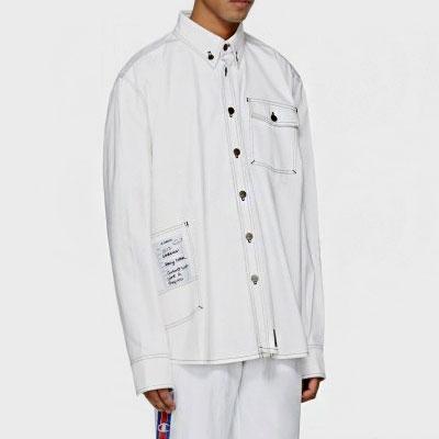 [WHITE ver.]ステッチワークシャツ