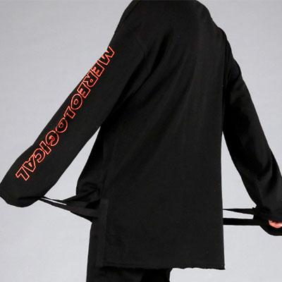 オレンジラインロングスリーブTシャツ