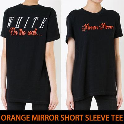 オレンジミラーショートスリーブTシャツ/半袖