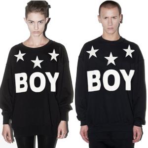 ★当日発送★ 人気ストリートファッション★Star Boy Basicトレーナ(男女兼用・裏起毛)