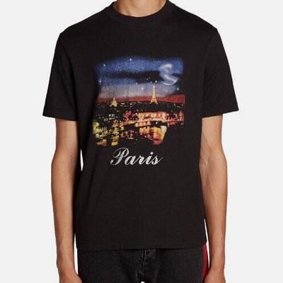 ナイトインパリプリントショートスリーブTシャツ/半袖