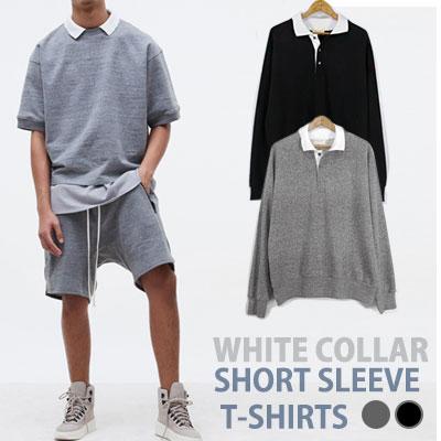 ホワイトカラーのロングスリーブTシャツ