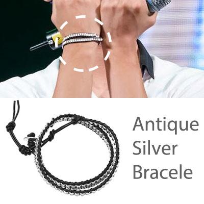* 韓国アイドルファッション* VIXX Antique Silver Bracelet ブレスレット