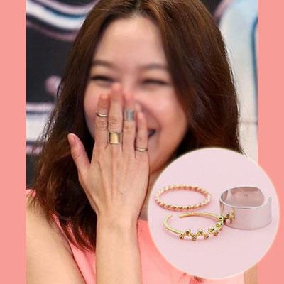 =韓国人気ドラマ「大丈夫、愛だよ。」=ヒロインのコン・ヒョジンSTYLE爽やか気分リング3セット