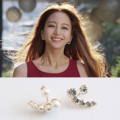 韓国ドラマファッション☆女優ハン・イェスル出演ドラマ「美女の誕生」アイテム!Uptown girl style earring