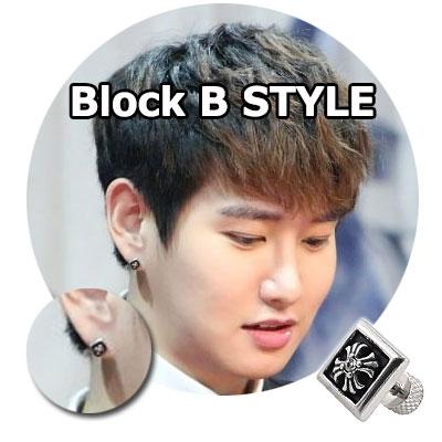 Block Bアイテム|韓国アイドルブラックビーのパク・キョン着用クロムハーツスタイルのRepetto Cross Cubic Pierce(1ea)