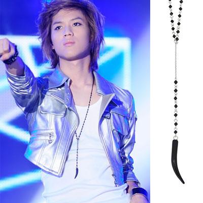 SHINee Tae min ITEM | 韓国アイドルファッション!ユニークなビーズオニックスネックレス