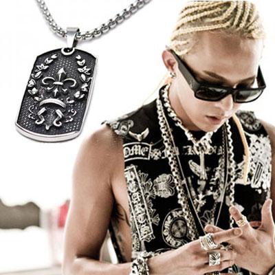BIGBANGメンバー愛用ブランドアイテム|クロムst.サージカルスチール素材ロゴ刻印ペンダントネックレス