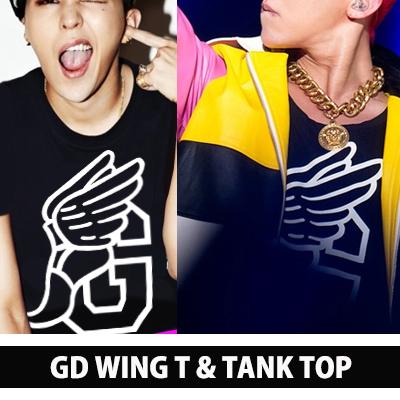 g-ドラゴン WOLRD TOUR ファッション!!! 赤色にパーマネントをした強烈な髪型をしたG-DRAGONの翼G 袖なし
