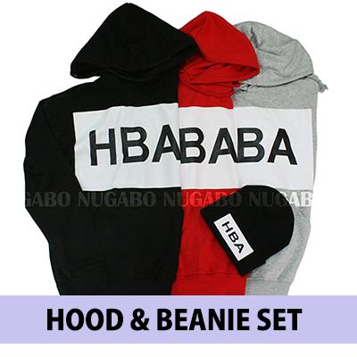 ♪♪HAPPY EVENT♪♪HBAパーカー&ニット帽@2点あわせて3300円!!!!!韓国ファッション通販/ビッグロゴ