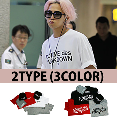★GD Style C*mme des Fuck d*WN半袖Tシャツ(2type/3color)