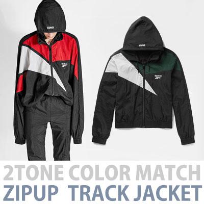 2色マッチジップアップトラックジャケット