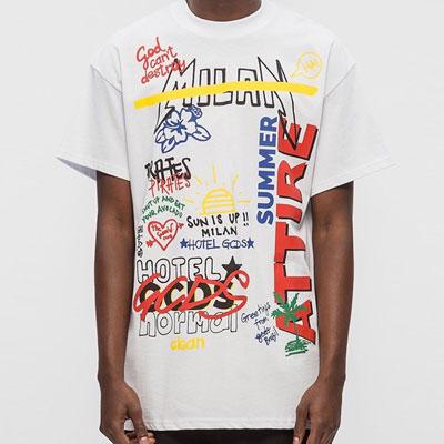 グラフィティロゴショートスリーブTシャツ/半袖