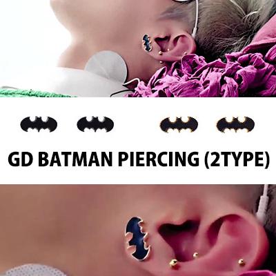 GIYONGHYのcrayon(クレヨン)PVで着用バットマンピアス/BIGBANG/G-DRAGON/ジヨン イヤリング