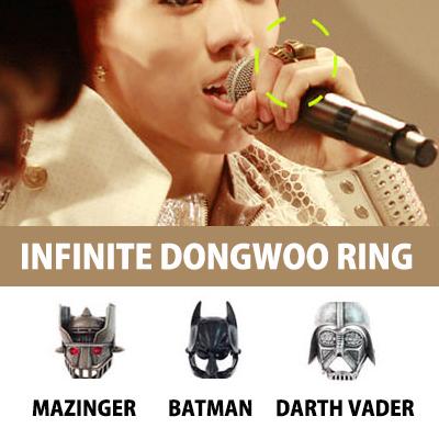 INFINITE(インフィニット)のドンウが日本デビューの時につけたマジンガー(Mazinger)指輪