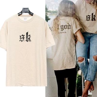 超人気SKプリント半袖バージョン入荷完了!SKブラッシュカリグラフィー半袖Tシャツ