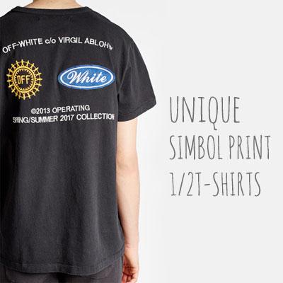 ユニークロゴシンボルプリントショートスリーブTシャツ/半袖