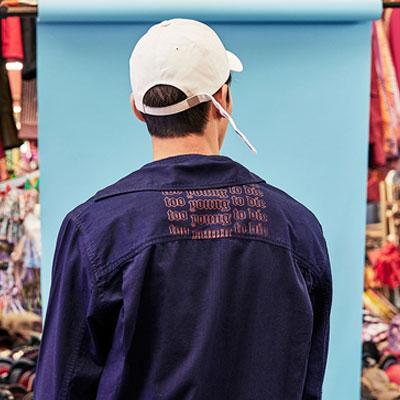 [8SECONDS]/2017 SS 8 X GD's PICK (正規品)ブルーオーバーサイズのデニムシャツG-Dragon GD G-DRAGONコラボ