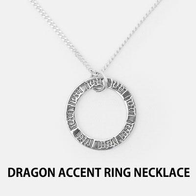 [8SECONDS]/2017 SS 8 X GD's PICK (正規品)G-Dragon GD G-DRAGONコラボ DRAGONポイントリングネックレス