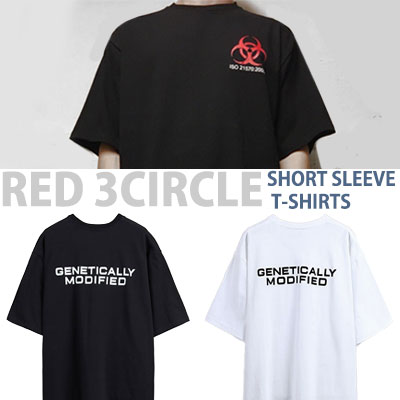 レッド3サークルショートスリーブTシャツ/半袖