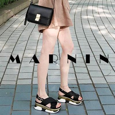 【RANG SHE】インソールポイントマルニサンダル