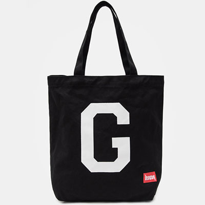 [8SECONDS]/2017 SS 8 X GD's PICK (正規品)GDレタリングキャンバスエコバッグ/ブラックGD G-DRAGONコラボ