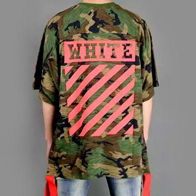 レッドテープポイントオーバーサイズカモショートスリーブTシャツ/半袖
