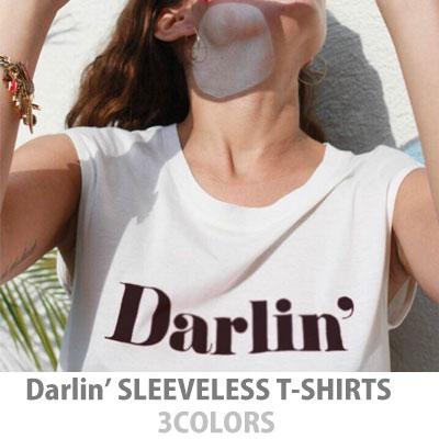 【FEMININE : BLACK LABEL】Darlin 'プリントスリーブレスTシャツ/ 3カラー