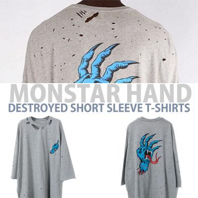 モンスターハンドディストリロイドショートスリーブTシャツ/半袖