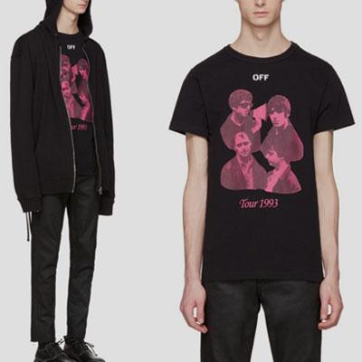 ロックグループツアープリントショートスリーブTシャツ/半袖