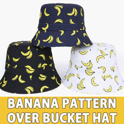 バナナパターンオーバーバケットハット
