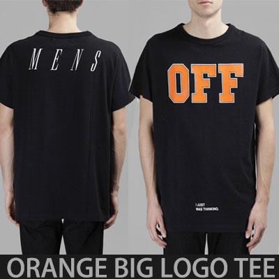オレンジビッグロゴショートスリーブTシャツ/半袖