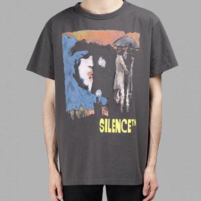 サイレンスピクチャープリントショートスリーブTシャツ/半袖