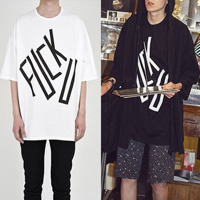 FXCK U オーバーサイズショートスリーブTシャツ/半袖
