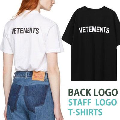 バックロゴ&フロントSTAFFロゴショートスリーブTシャツ/半袖