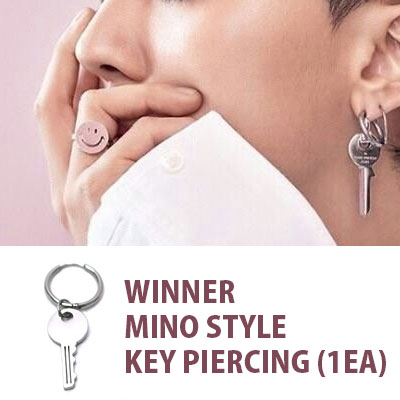 WINNER MINO STYLE!/鍵ドロップセグメントリングピアス/1EA