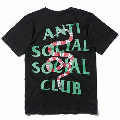 グリーンロゴスネークショートスリーブTシャツ/半袖