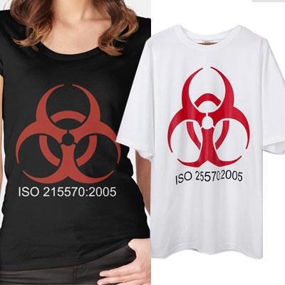 オーバーサイズ/バイオハザードショートスリーブTシャツ/半袖
