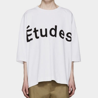 エチュードロゴオーバーサイズショートスリーブTシャツ/半袖