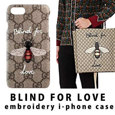 BLIND FOR LOVE 刺繍i-PHONEケース/i-PHONE 6S,6S+,7,7+