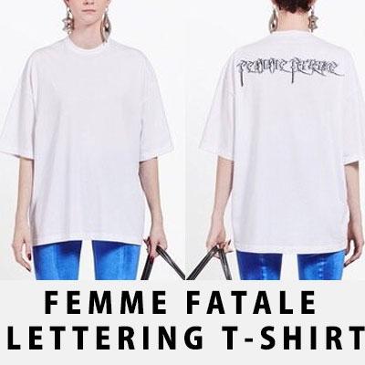 ファム・ファタールバックロゴオーバーサイズTシャツ/BLACK,WHITE